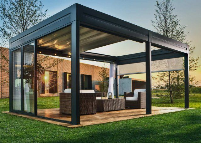 ber ideen zu pergola alu auf pinterest couvrir une terrasse bioclimatique und abri. Black Bedroom Furniture Sets. Home Design Ideas