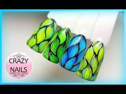 ♥Дизайн ногтей ♥Абстракция ♥Новые гель лаки♥ - YouTube