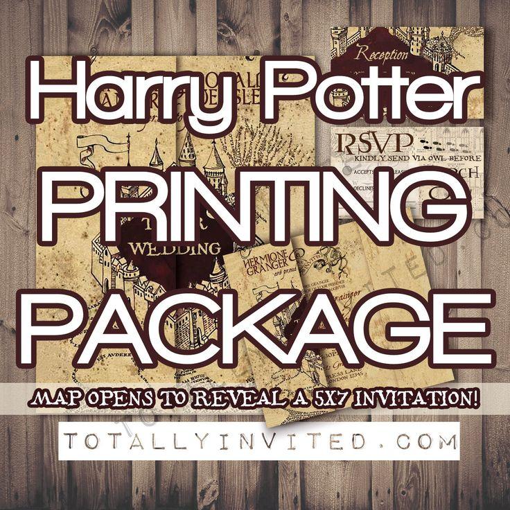 PRINT my HARRY POTTER wedding set Invitation by TotallyInvited