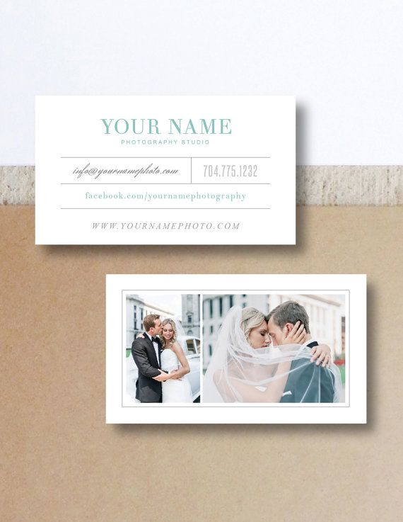 Vintage Business Card Template for Wedding photography by designbybittersweet