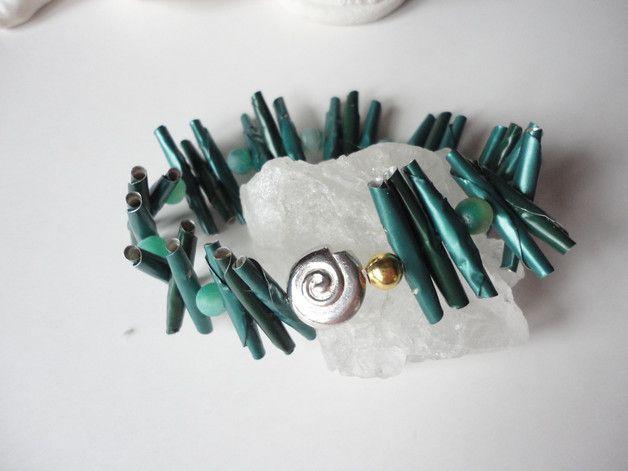 upcycling Spindel Röhren Nespresso Armband by artXdesign shadisha auf dawanda