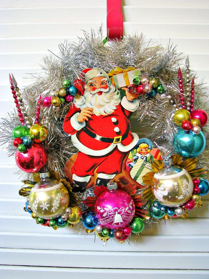 christmas wreath ideas 318 best vintage ornaments wreaths images on 29494