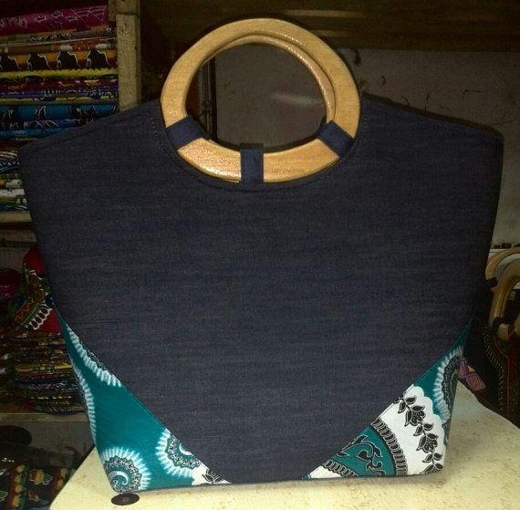 Dashiki Ankara Wax Women's Handmade Handbag / Dashiki Handbag Women / African handbag Women / Wax Handbag Woman / African Dress / Handbag