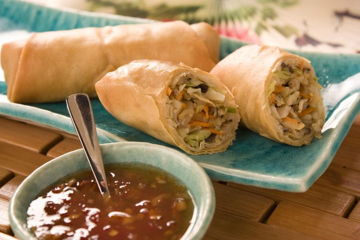 Spring rolls are similar to egg rolls, only they're usually a bit lighter and often packed with veggies only - no meat. Why not pick up some egg roll wrappers and make your own version of this quick and tasty snack?