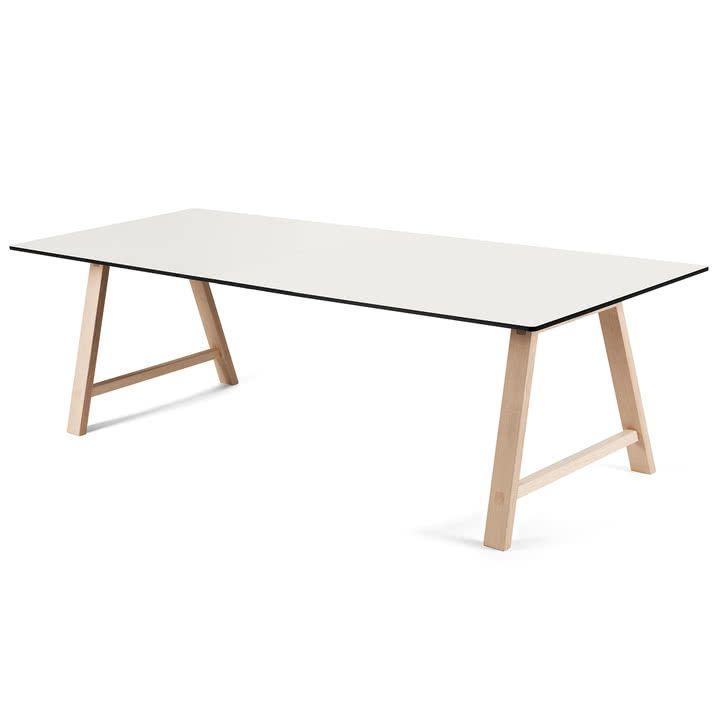 T1 Ausziehtisch 220 cm von Andersen Furniture (Gestell Eiche geseifet, Tischplatte Laminat, weiß)