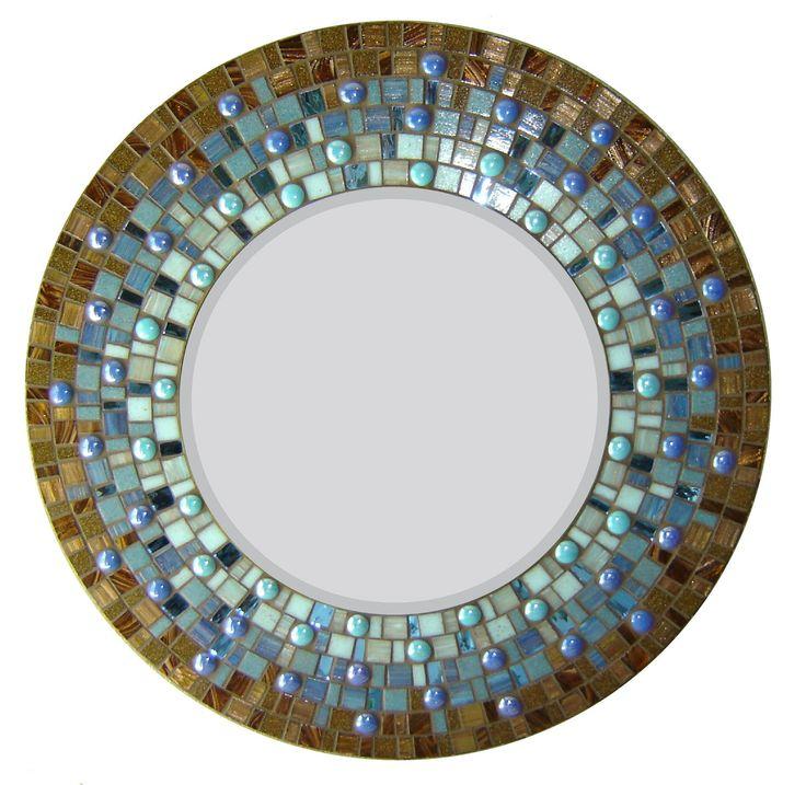 Les 62 meilleures images du tableau miroirs en mosaiques for Miroir rond mosaique