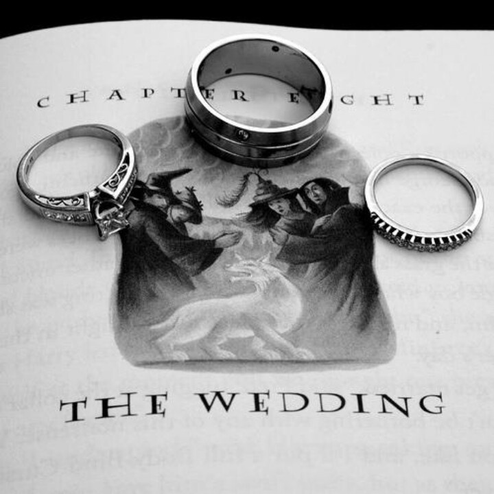Cute pic! Harry Potter wedding ring picture. This is so easy to do not to me room cute!!!!!