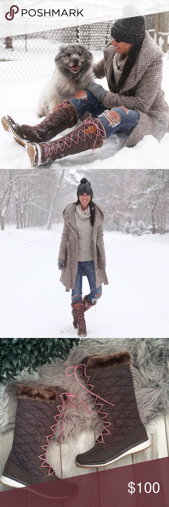 Salomon Snow Boots Faux Fur Size 9 Worn once Salomon Shoes Winter & Rain Boots