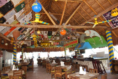 Carlos 'n Charlies  Cozumel Yards of Margaritas are the Best!!  (especially at 7a.m. !! )