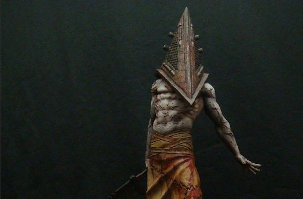 Pyramid Head (SH Homecoming)Silent Hills, Games Villains, Head Sh, Videos Games, Head Sculpture, 380 Pyramid, Video Games, Hills Pyramid, Pyramid Head