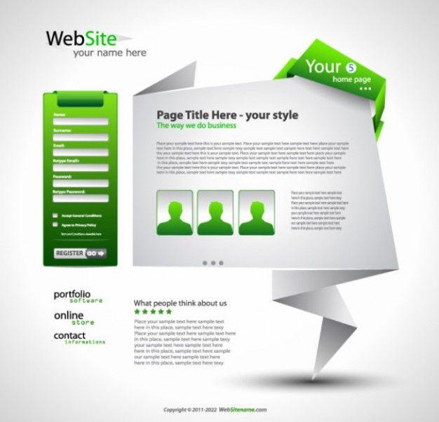 origami website design