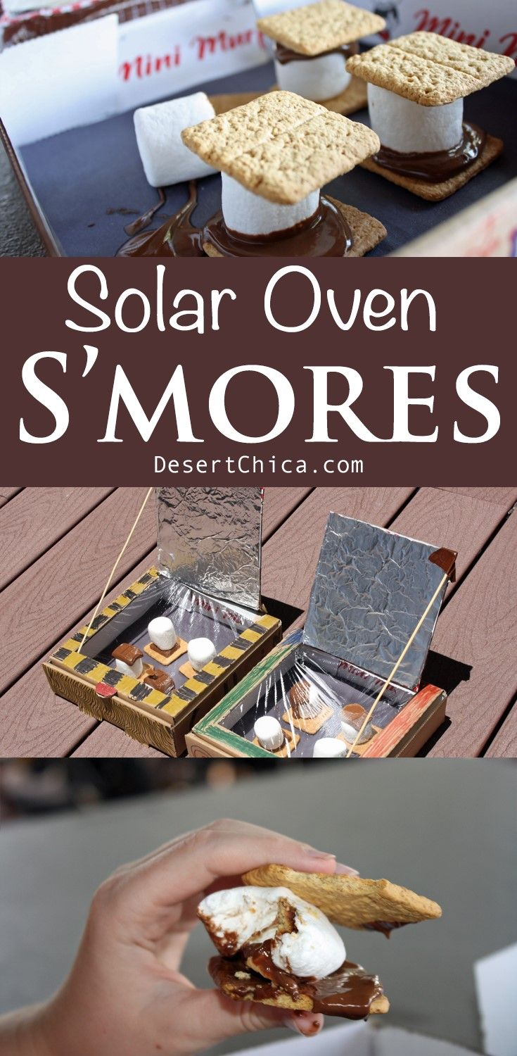 DIY Solar Oven Smores are the perfect fun learning and eating activity in the summer! The solar ovens are pretty easy to make with supplies you likely already have at home or can save like cardboard pizza boxes! Plus you cant beat the allure of chocolate, marshmallows and graham crackers.