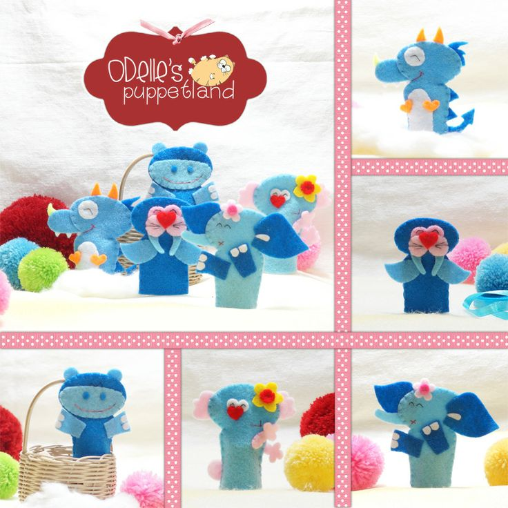 LEE THE DRAGON, SELO THE SEALION, NEAL THE HIPPO, ELLE THE ELEPHANT  CHLOE THE KOALA are 5 of the 50 cute characters in odelle's puppetland. Each character here, is available for the finger puppet, pencil puppet  mini puppet. Get them for only rp7.000/each. Contact me: http://odellespuppetland.blogspot.com sms/wa : 0896 420 97 266 ping me! 7448EE1E  #fingerpuppet # puppet #odellespuppetland #handmade #craft  #felt  #bonekajari #elephant #dragon #hippo #koala #sealion #baby #kids #edutoys
