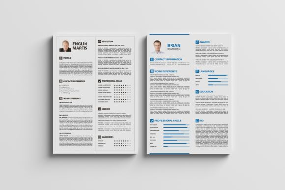 Best Two Resume / CV Cover Letter by Design Studio Pro on Creative Market