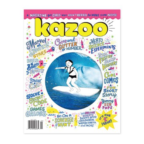Kazoo is a new kind of quarterly print magazine for girls, ages 5 to 10—one that inspires them to be strong, smart, fierce and, above all, true to themselves.