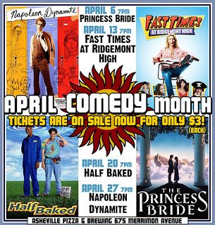 Asheville NC Visitor Guide to Lodging, Attractions, Events, Dining, Entertainment: Asheville Brewing Company Celebrates National Comedy Month