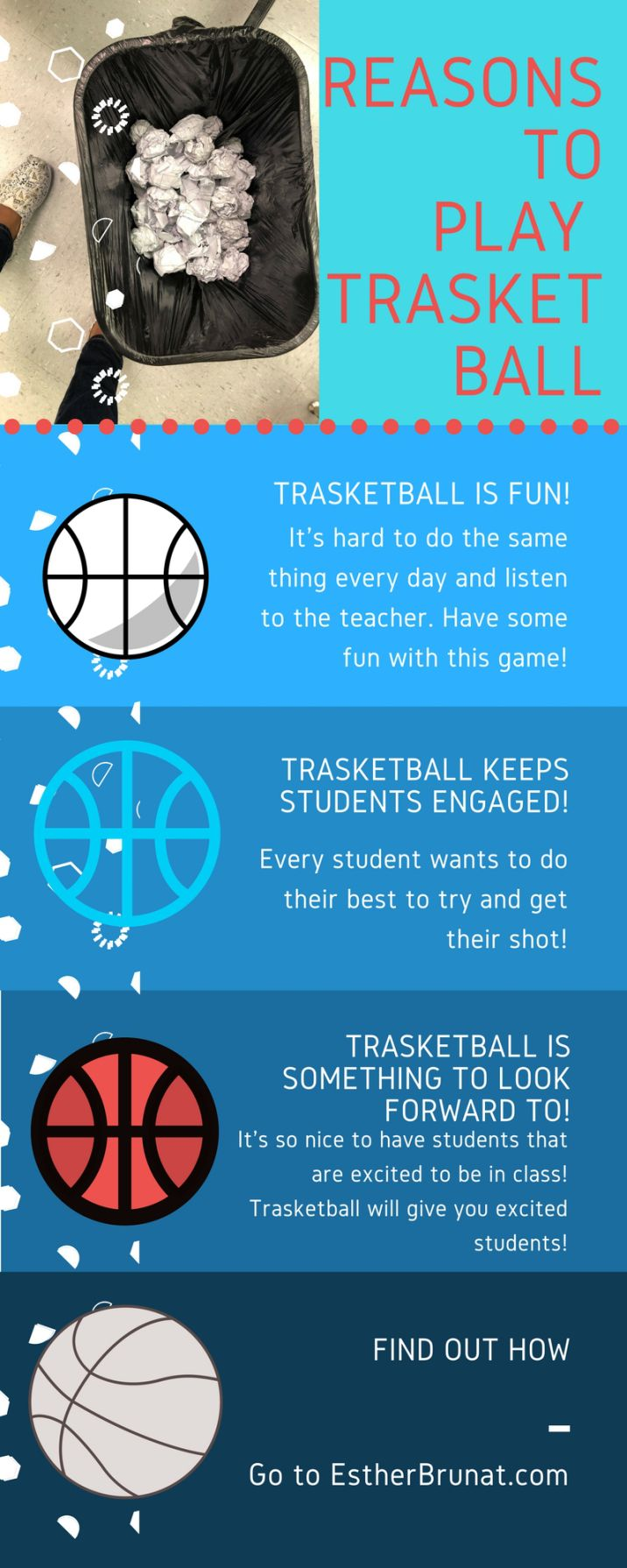 Trasketball & How to get students to stop flying paper balls   Paper ...