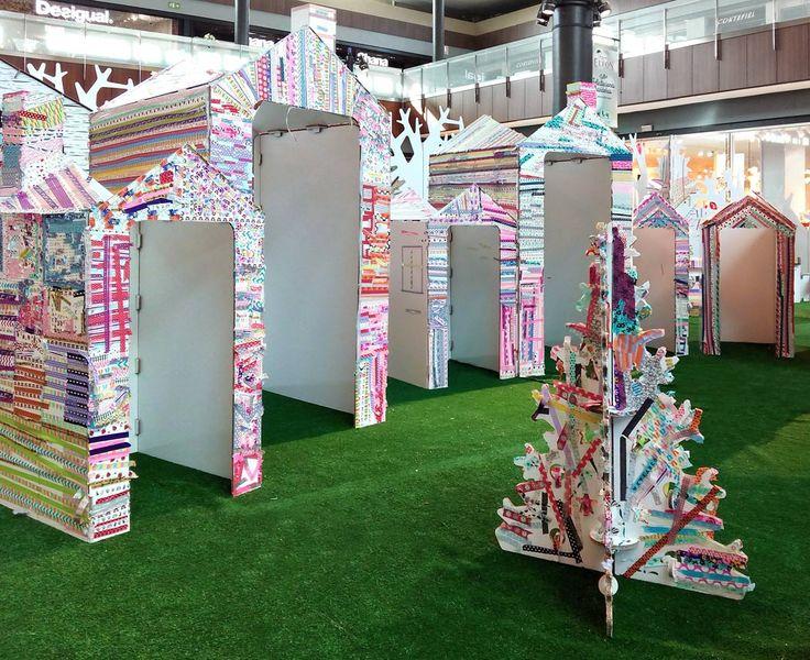 Decoración de navidad y actividades infantiles en centros comerciales. Ideada por Thinketers y diseñada por cartonlab para el centro comercial Thader.