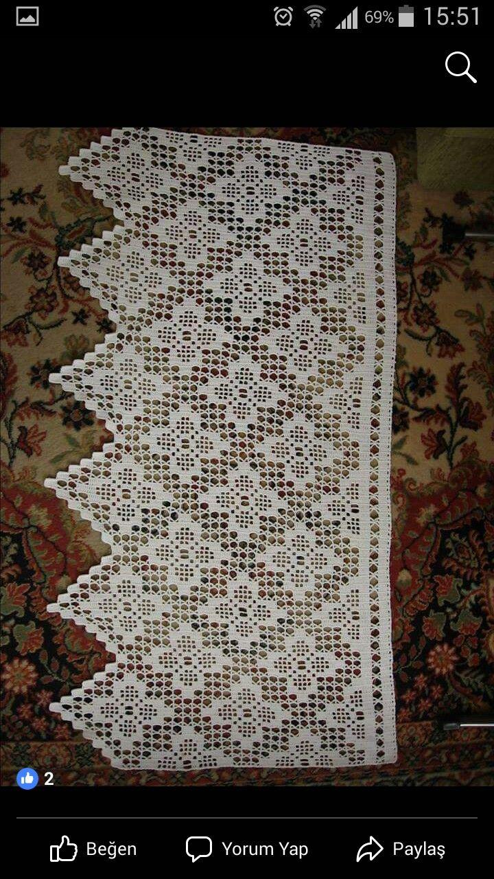 Tramezzi Per Tende A Filet.Pin Di Lati Na Su Bordure E Tramezzi All Uncinetto Crochet Filet