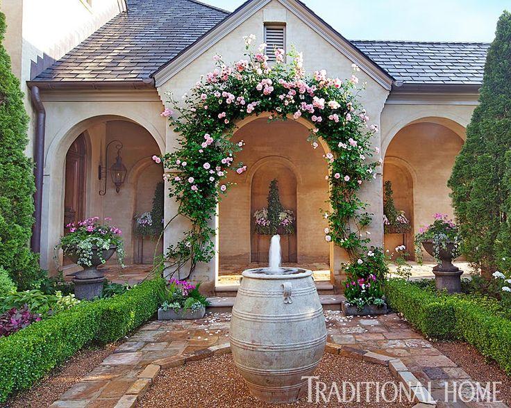 Uma Casa Com Um Lindo Jardim