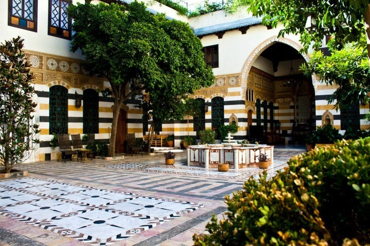 21 Best Houses Courtyard Images On Pinterest Damascus