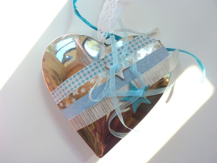 Porte alliance home d co coeur blanc gris bleu clair home for Decoration porte gris