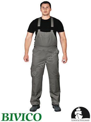 promocja! Szare spodnie ochronne ogrodniczki LH-BISTER