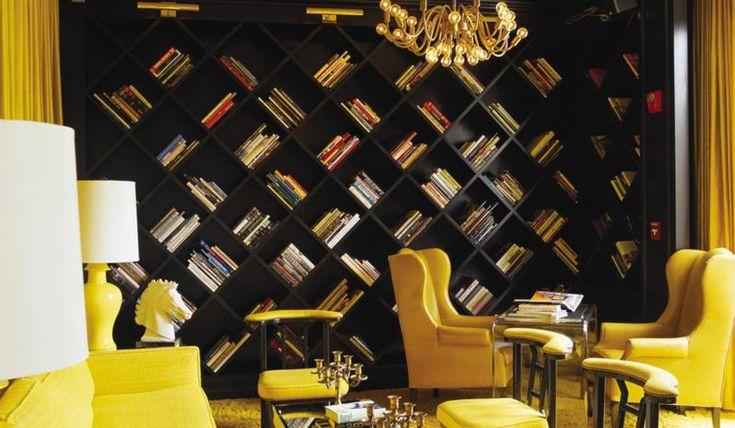 Viceroy Santa Monica: Bookshelves, Idea, Living Rooms, Home Libraries, Books Shelves, Interiors Design, Santa Monica, Kelly Wearstler, Books Storage