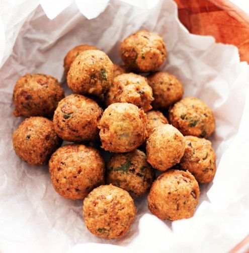 Serve these fritters with an array of sauces for a untraditional appetizer at your next party.
