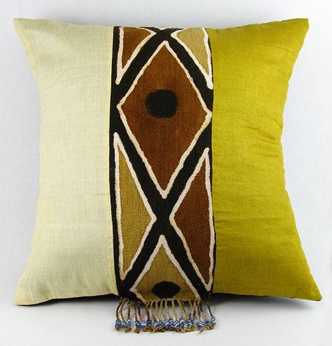 African Bogolan Pillow