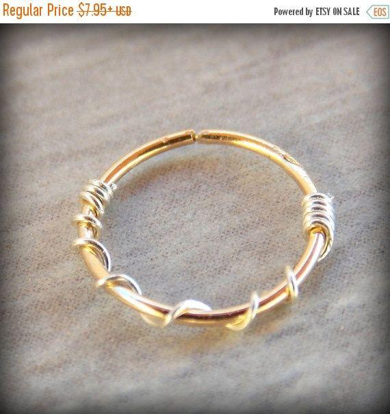 VENTE 14K Gold Filled nez bague/boucle par sofisjewelryshop sur Etsy