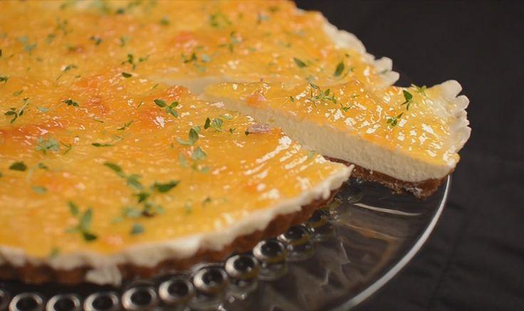 Cheesecake de Pessêgo Tomilho e Limão - Sobremesas | YouCook