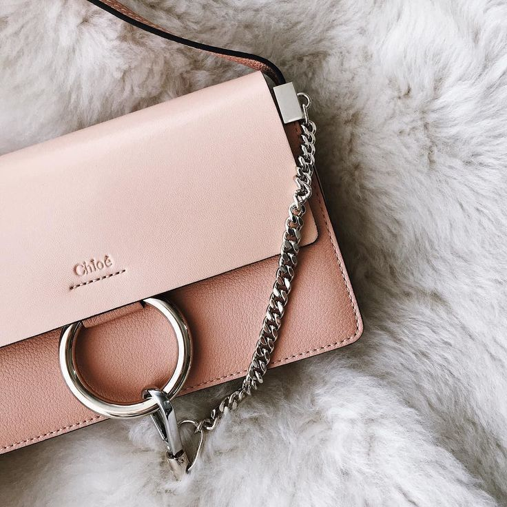 Pink Chloé Faye. We need this bag.