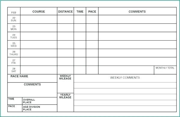 Weight Training Log Book Template Gym Exercise