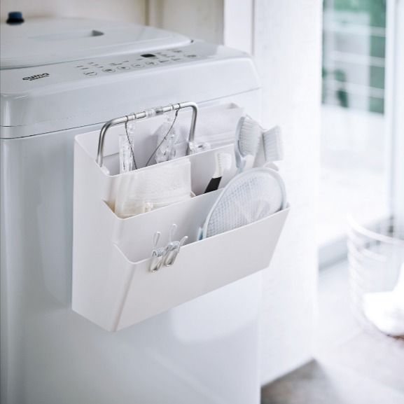 洗濯機横マグネット収納ポケット 3段 タワー 2020 浴室 収納