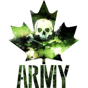Canadian Army Maple Leaf Skull Shirt
