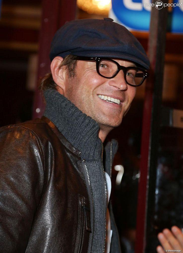 Laurent Delahousse à la générale du spectacle de Muriel Robin au théâtre de la Porte Saint-Martin à Paris, le 23 septembre 2013.