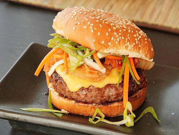 Sweet Barbecue Kim-cheese Burgers: a new, exciting meld of East and West!