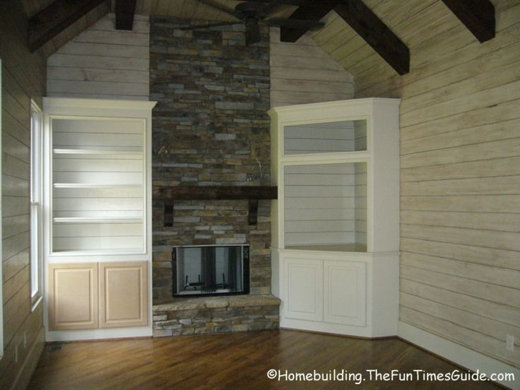 Image result for fireplace bookcase ideas with corner bookcase