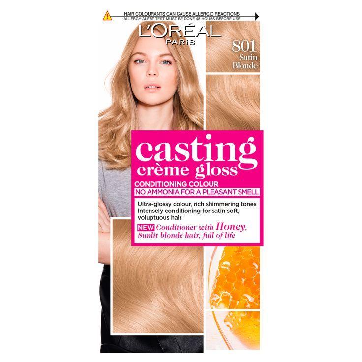 Loreal Paris Casting Creme Gloss 801 Satin Blonde Hair Dye Loreal Semi Permanent Hair Dye Dyed Hair