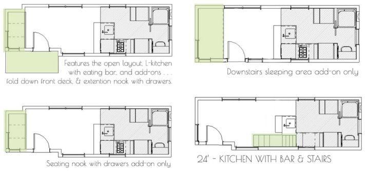 71 best 24 Foot Tiny House Plans images – Mini Homes Floor Plans