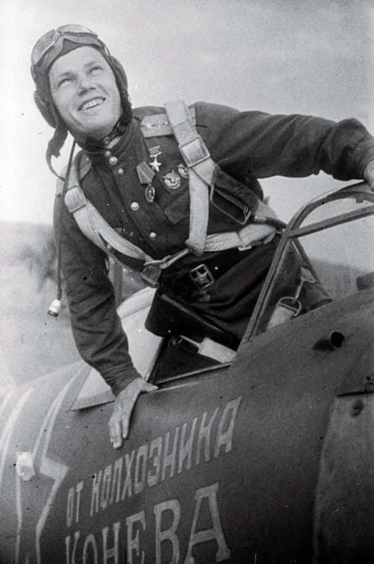 Ivan Kozhedub. Marshal of Avation, Hero of the Soviet Union. 62 air victories, including one Me-262.