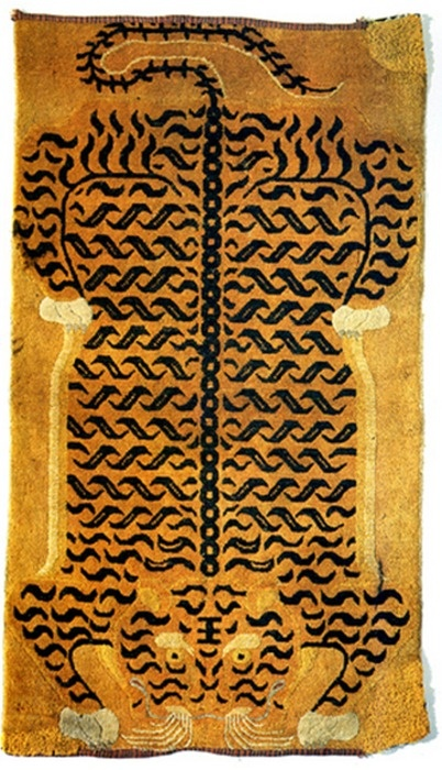 Old Tibetan Tiger Rug-cool idea for project.....