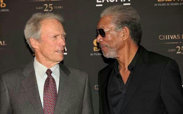 Clint Eastwood and Morgan Freeman   Morgan Freeman   Pinterest