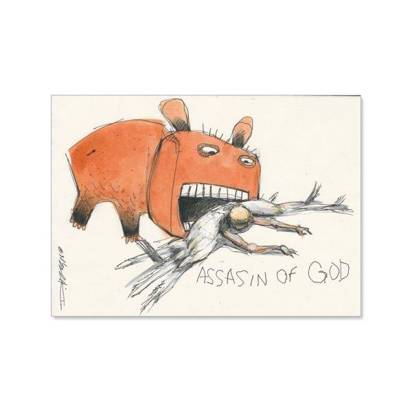 """Derek+Hess+""""Assasin+of+God""""+Originals+at+https://www.indiemerch.com/derekhess/"""