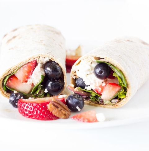Berry Balsamic Salad Wraps