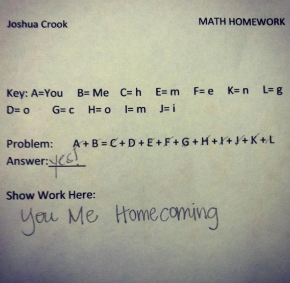 121 best homecomingprom images on pinterest boyfriends braided cute way to ask someone to hc ccuart Images