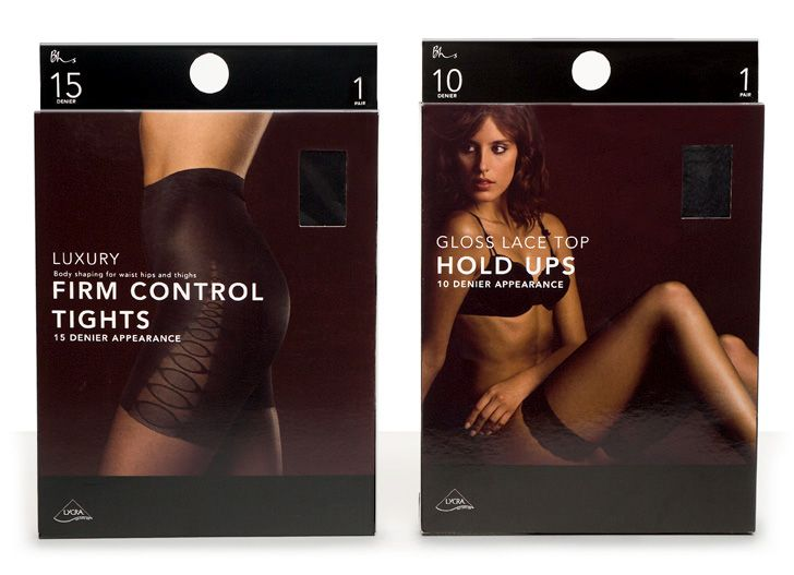 PROJECT: Paul Cartwright Branding was commissioned to rationalise the entire hosiery and tights range for Bhs. Covering everyday basic multipacks, fashion tights to luxury stockings and control products, the concept introduces a strong framework into which photography and colour can be used to differentiate between the products and sub-ranges.
