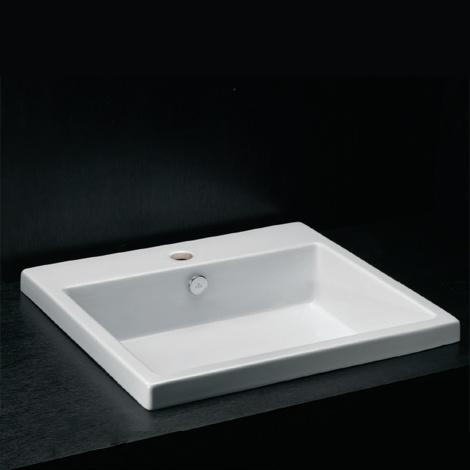 Parisi Bathware and Doorware - Aline 550, 750 inset basin - available with no tap hole
