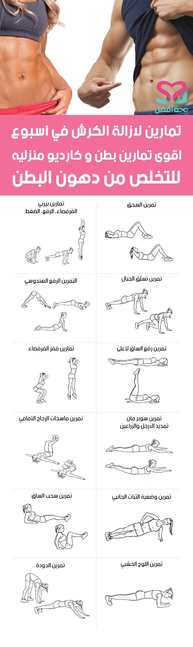 تمارين لازالة الكرش في اسبوع للرجال والنساء بالصور 30 Day Abs Full Body Gym Workout Weight Training Workouts